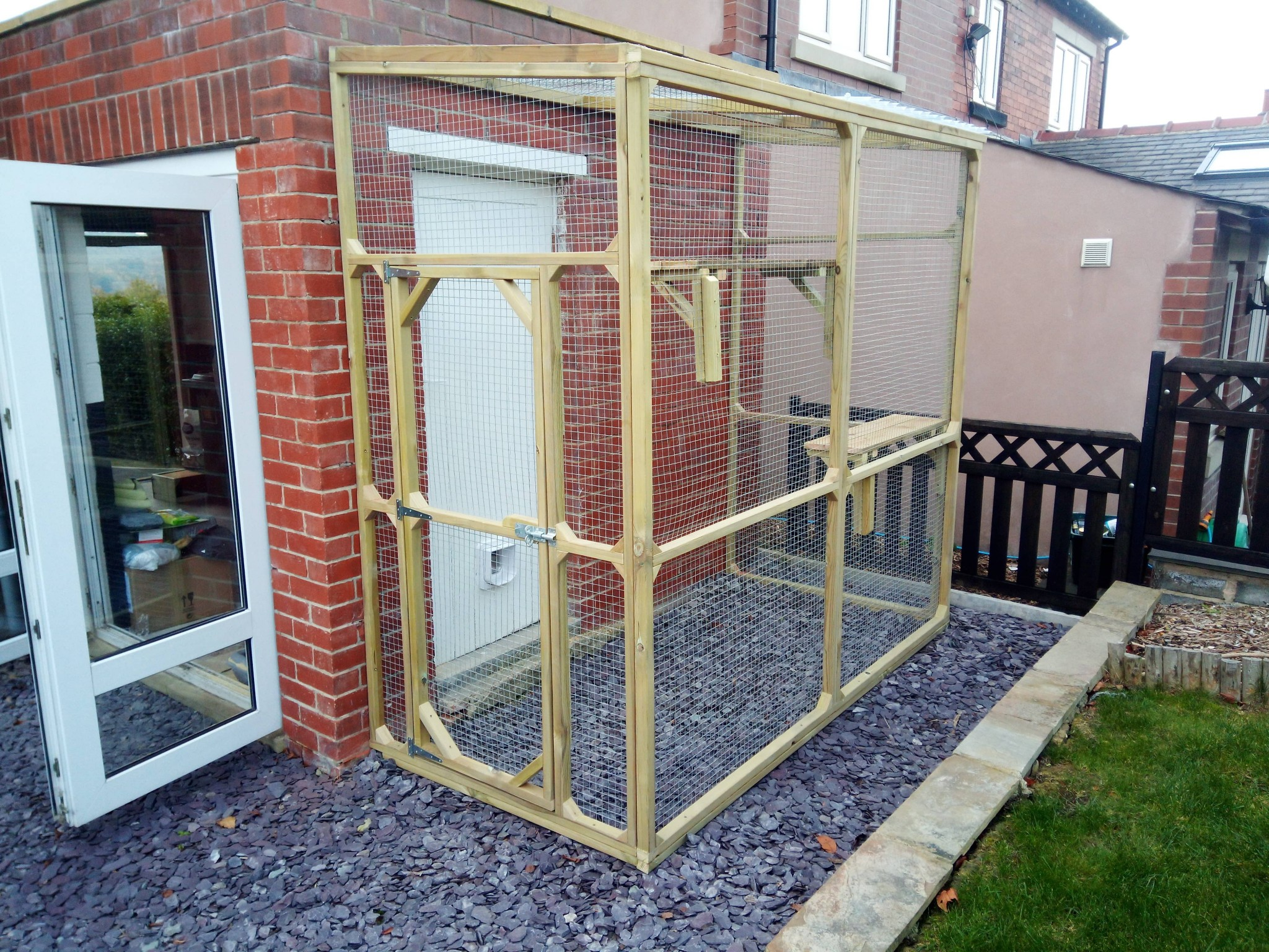 Cat Enclosures Runs And Catios Made To Measure Attached To